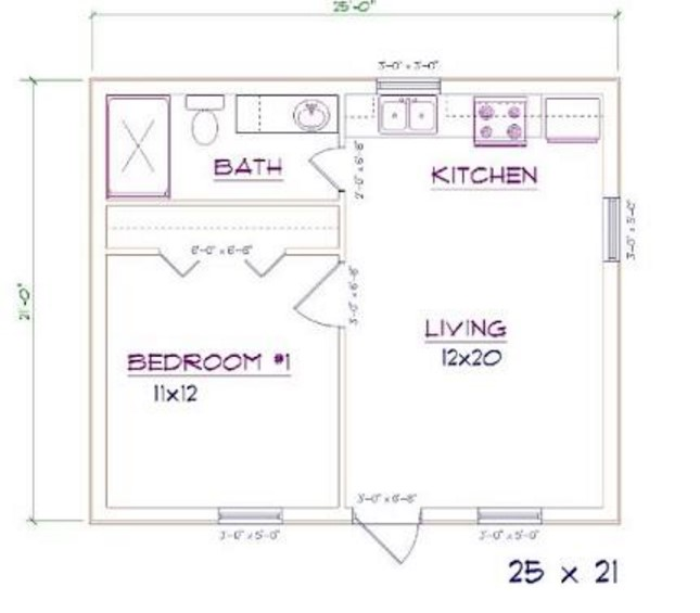 Barndominium Floor Plans 1 Bed, 1 Bath