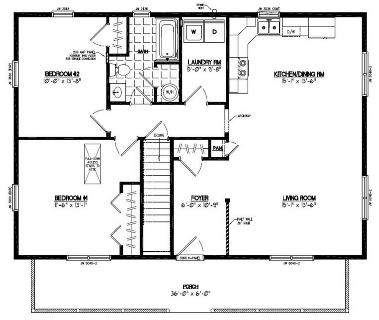 Barndominium Floor Plans 2 Bed, 2 Bath
