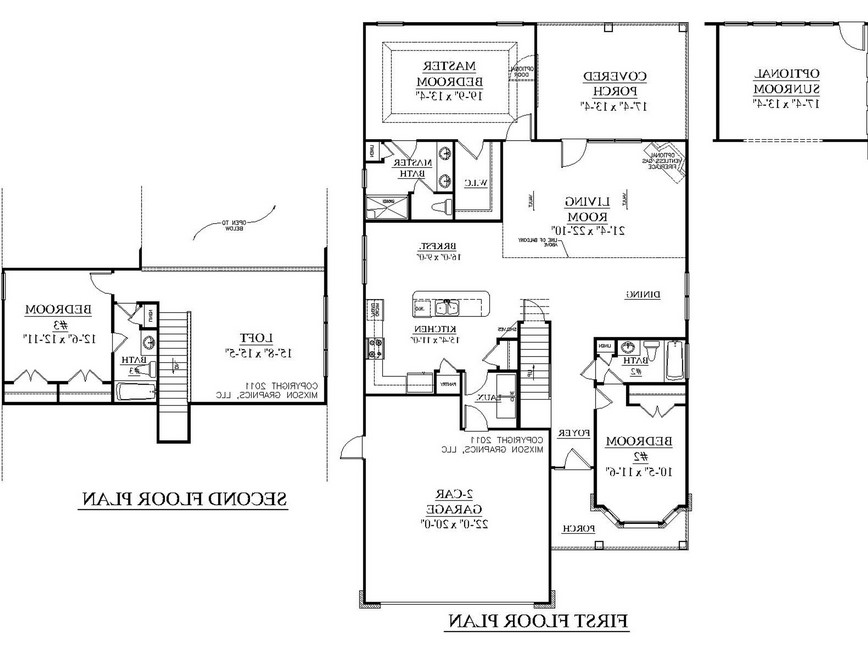 Barndominium Floor Plans 5 bed, 2 bath - 40'x60' 2400 sq. ft.