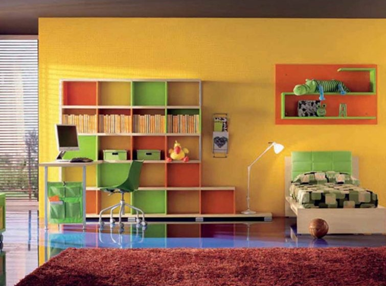 Colourful DVD and Book Space Concepts