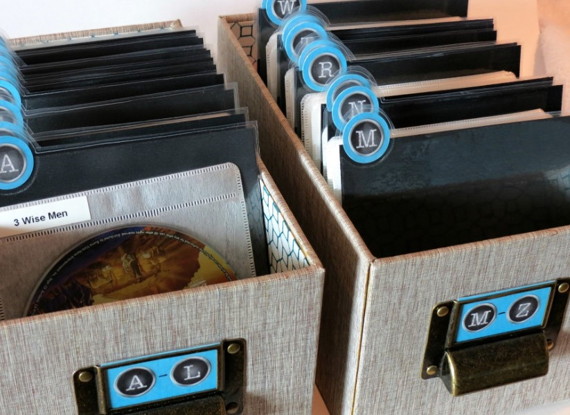 Lovely Binders DVD Storage Ideas