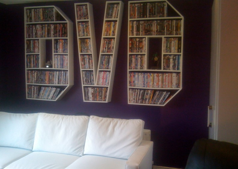 DVD Organizer For Movies In Bed