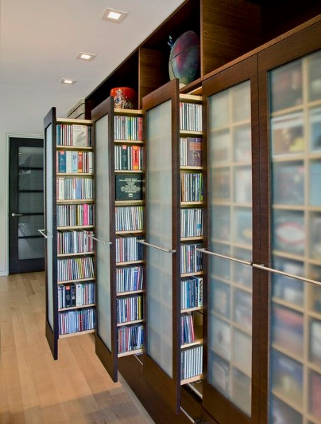 DVD Storage Concept As a Fashionable Media Centers
