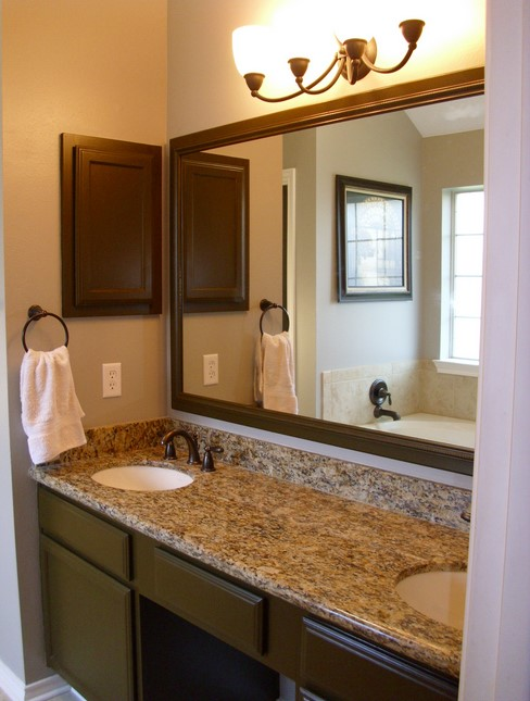 Double Mirror Granite Bathroom