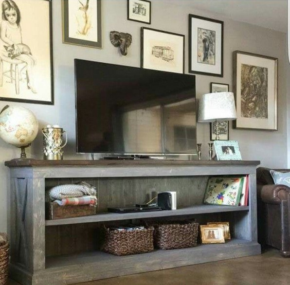 Farmhouse Style TV Console