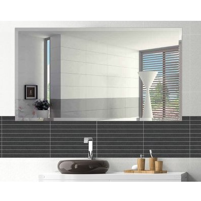Frameless Rectangle Beveled Polish Bathroom Mirror