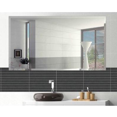 Frameless Rectangle Beveled Polish Bathroom Mirror