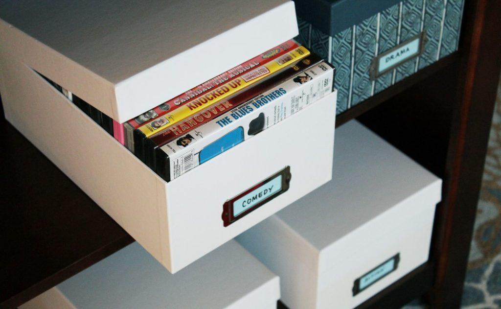 Hidden DVD Storage Ideas