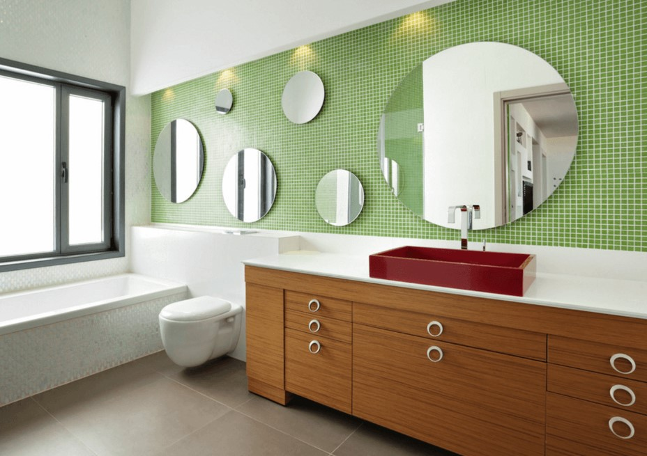 Mix and Match Bathroom Mirror Ideas