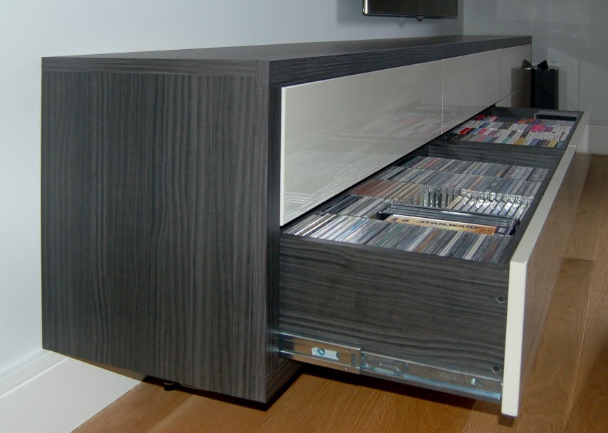 17 unique and stylish cd and dvd storage ideas for small spaces. Black Bedroom Furniture Sets. Home Design Ideas
