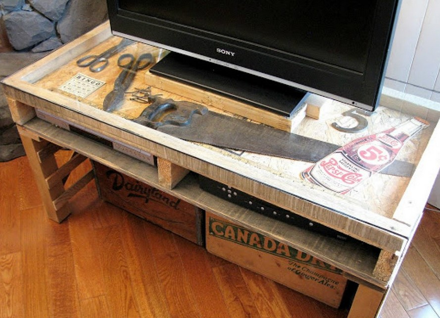 TV Stand Ideas Distressed Display