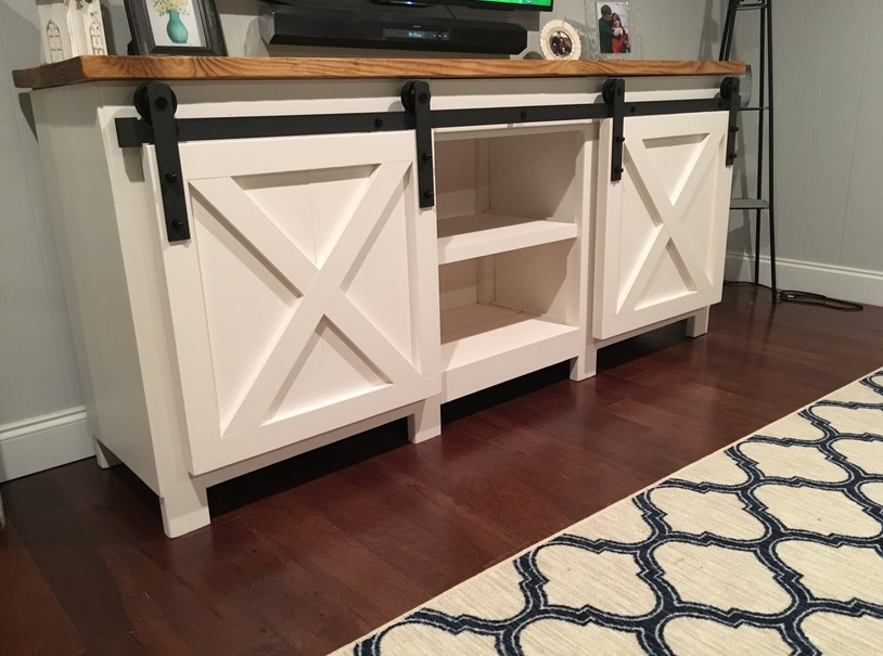 TV Stand Ideas - Grandy Sliding Door Console