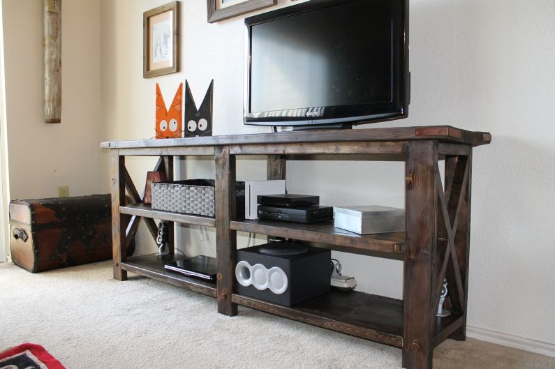 TV Stand Ideas - Rustic X Console