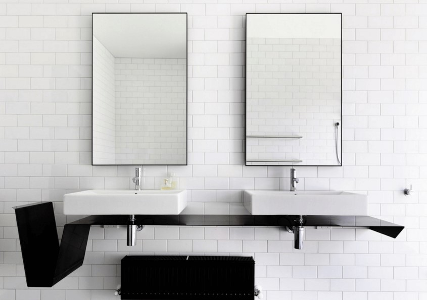 fa30380703 Bathroom Mirror Ideas (DIY) For A Small Bathroom - Spenc Design