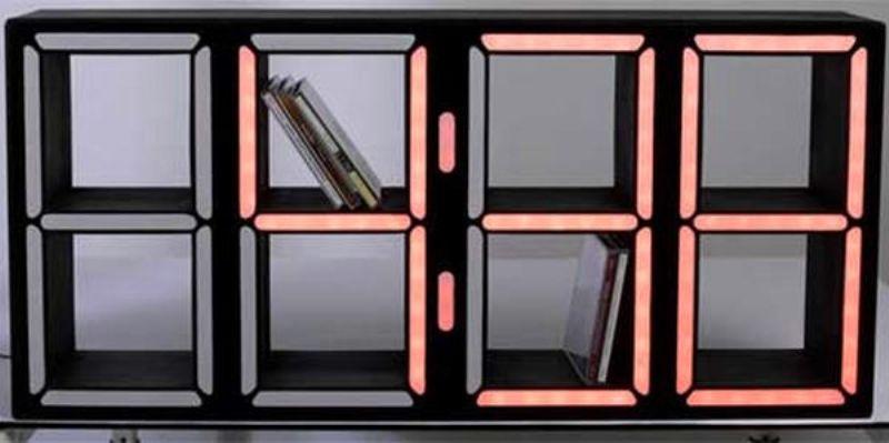 dvd storage ideas led clocks