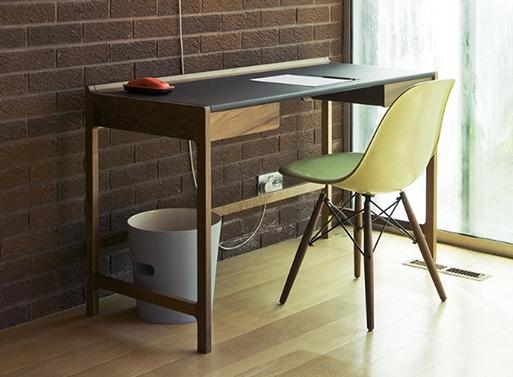 elegant desk made of solid walnut