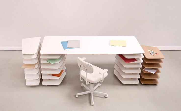 Interlocking Strates Desk