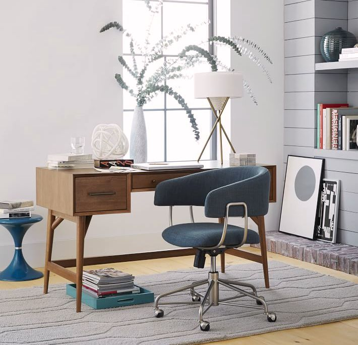 modern midcentury computer desk