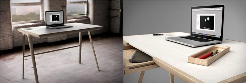 simple and sculptural desk