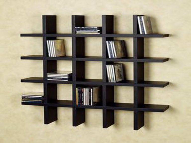wooden wall dvd storage ideas