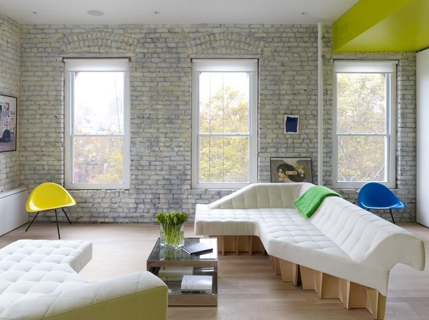 A Modern Condominium - White Brick Wall