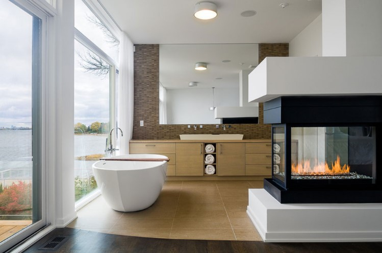 Advantages and disadvantages double sided fireplace