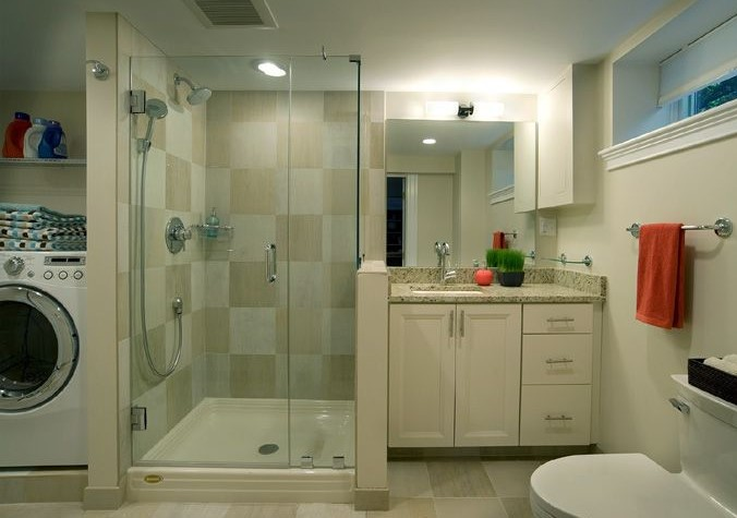 Basement Bathroom and Laundry Room