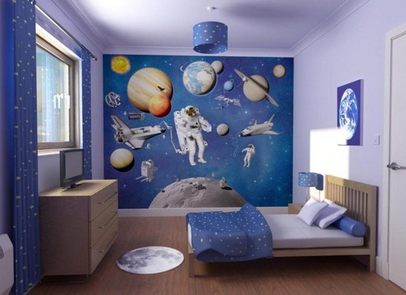 Beautiful Space Themed Room
