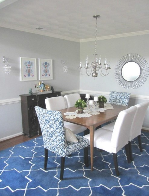 Blue Kitchen Table Rugs