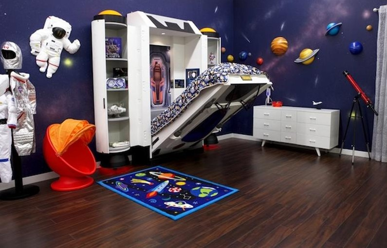 Bold Space Themed Room