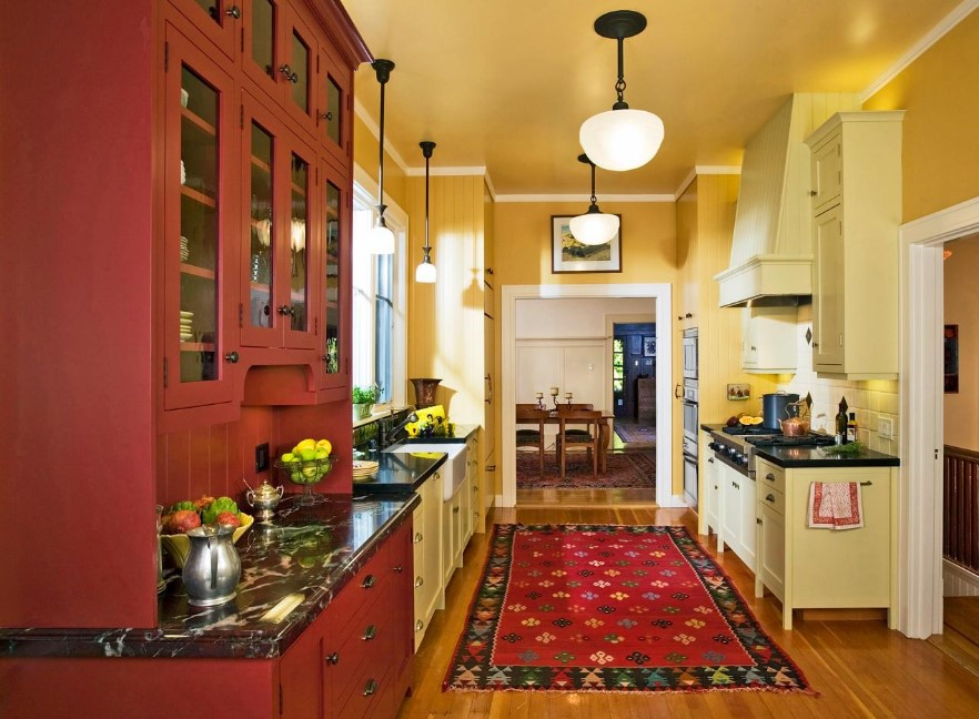 Bright Red Kitchen Rugs