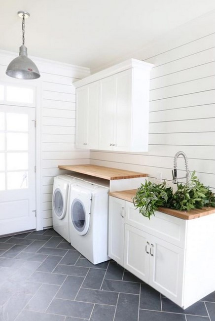 Bright and Clean Laundry Room Ideas