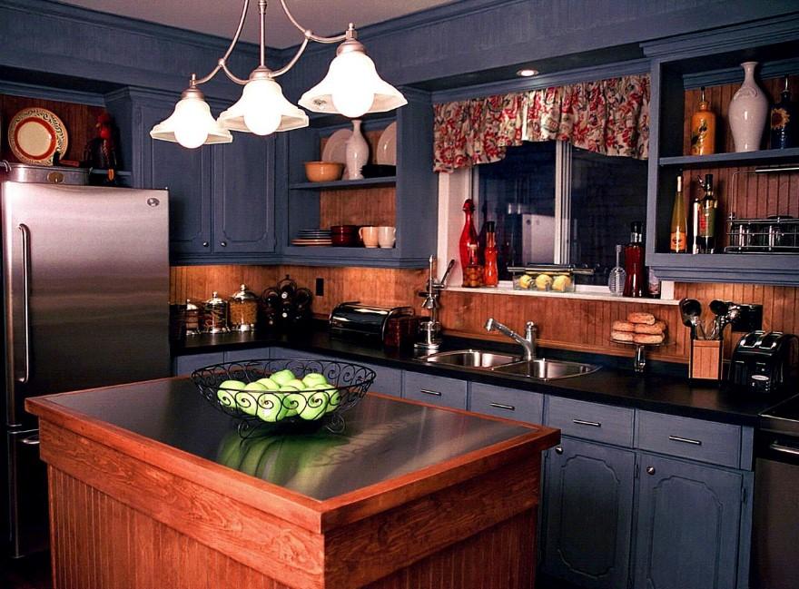 Victorian Brown and Black Kitchen Cabinet