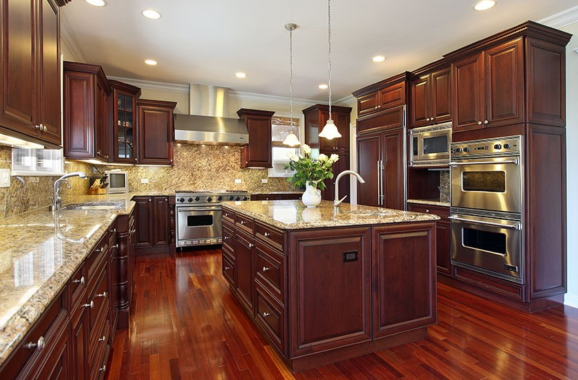 Home Design Ideas And Diy Project, What Color Countertops Go Best With Cherry Cabinets