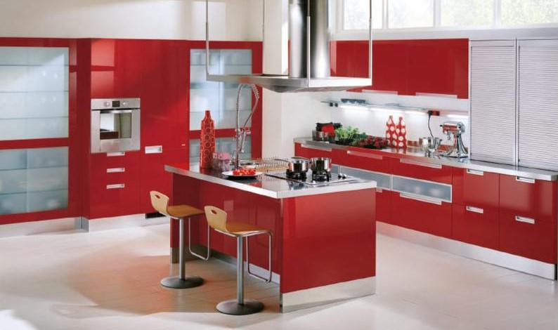 Contemporary Two Tone Kitchen Cabinets