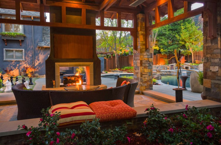 Double Sided Fireplaces Design Ideas