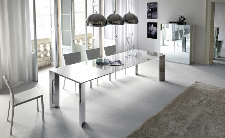 Eclectic Minimalism Kitchen Table Rugs