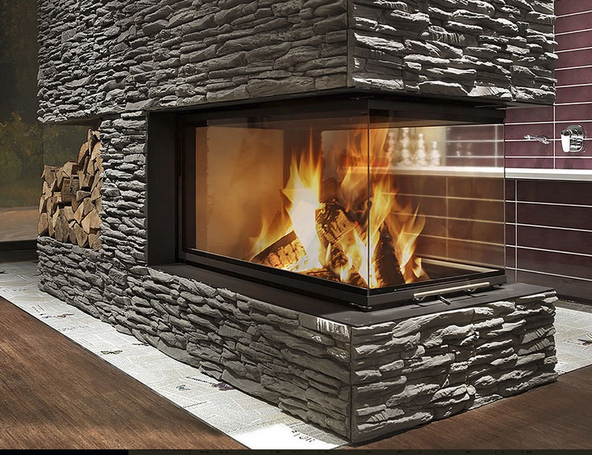 Engineered Stone Fireplace
