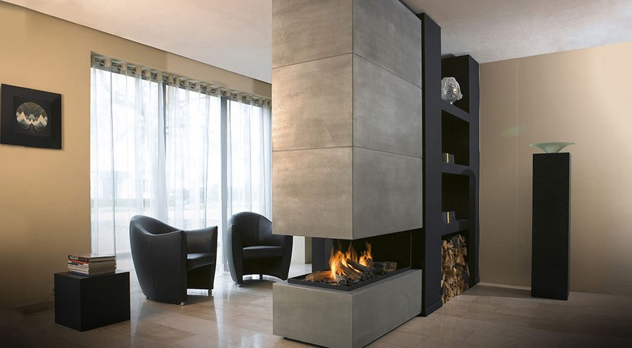 Floating fireplaces