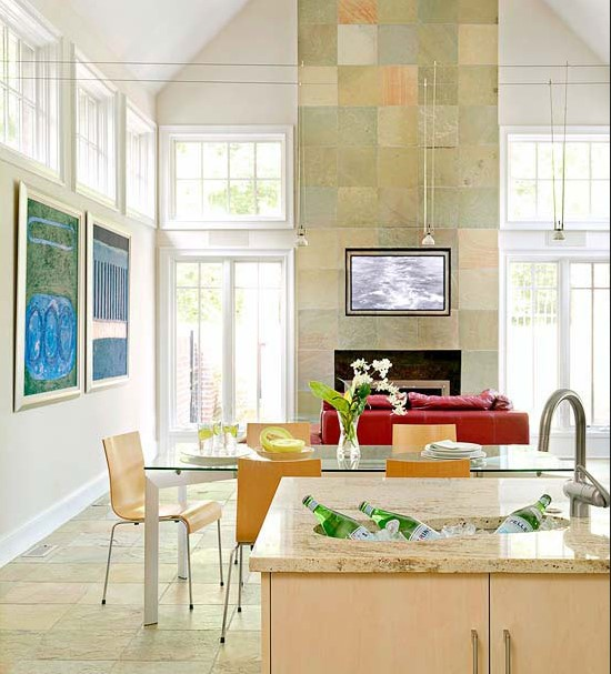 Floor to Ceiling Fireplace Tile Ideas