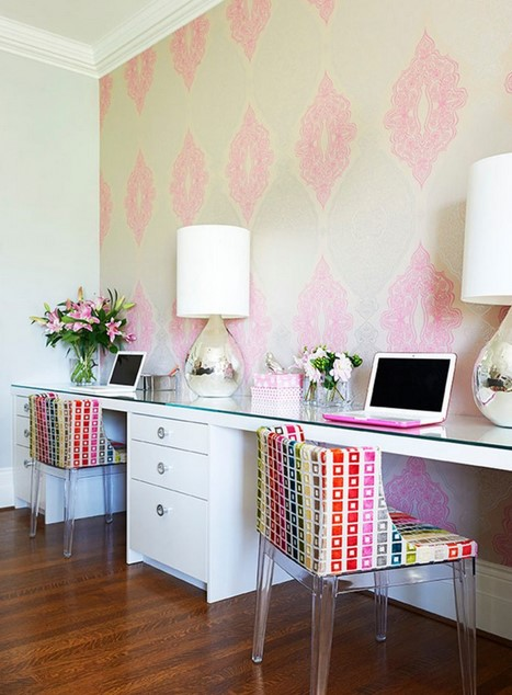 Girly Two Person Desk Design