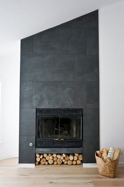 Gorgeous Black Fireplace