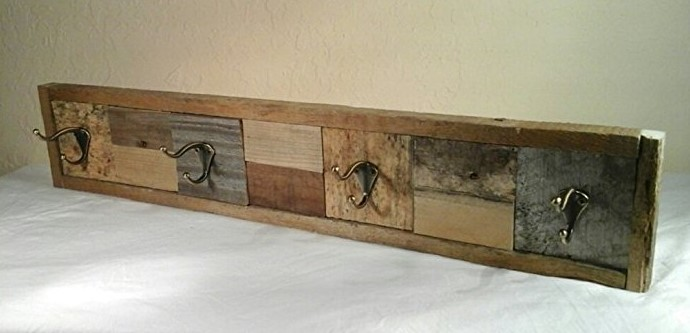 Hat Rack Made with Reclaimed Wood