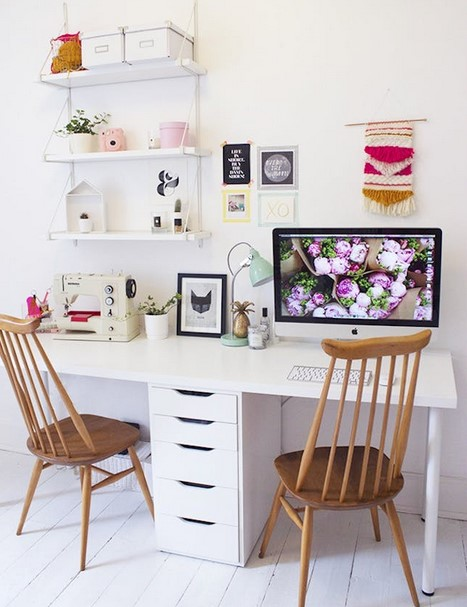 IKEA Inspired Two Person Desk Design