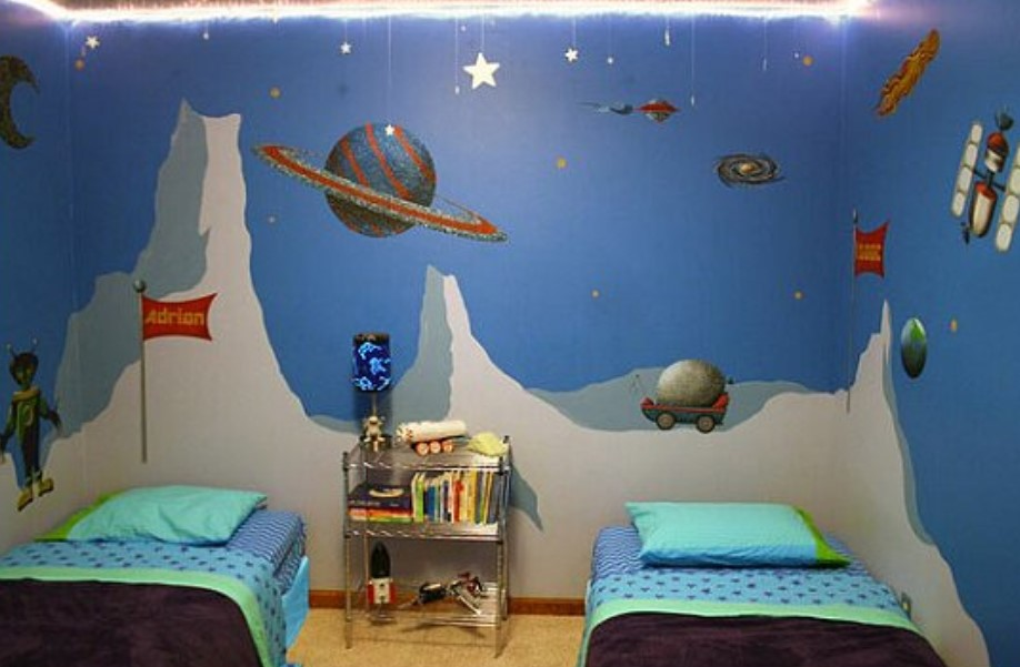 Interesting Space Themed Room