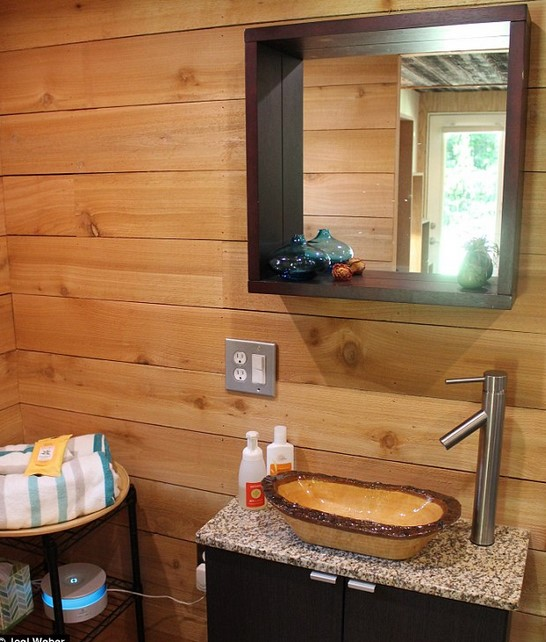 Joel Weber's Tiny House Bathroom