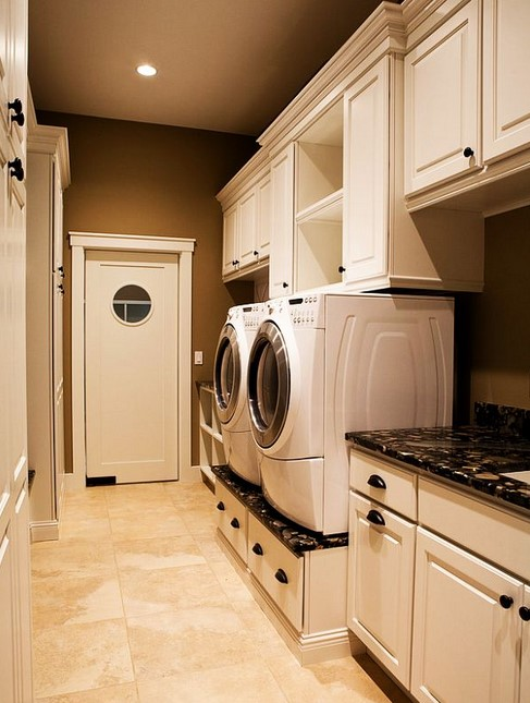 Laundry Room with Sweet Cabinetry