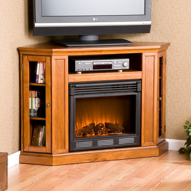 Modern Corner TV Fireplace