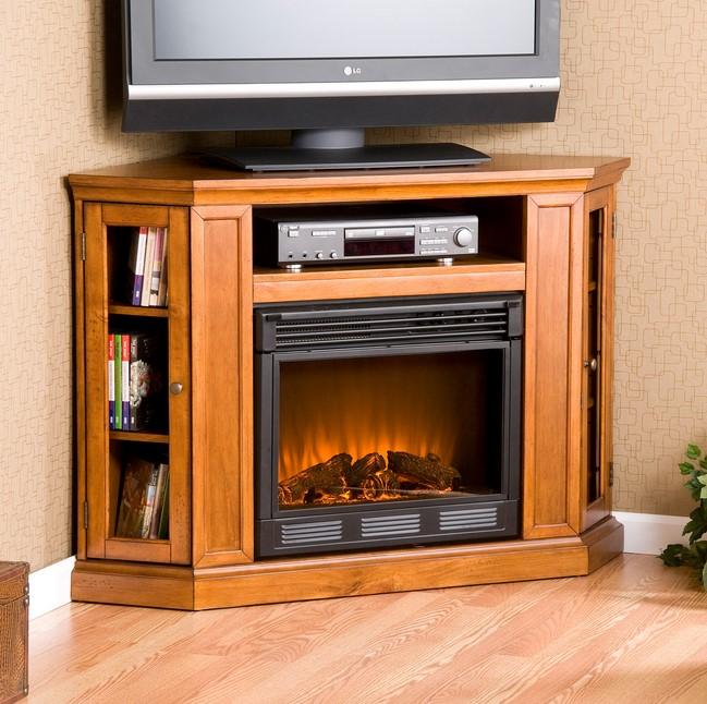 Modern Corner TV Fireplace