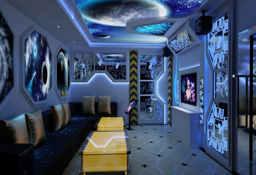Modern Space Theme Room